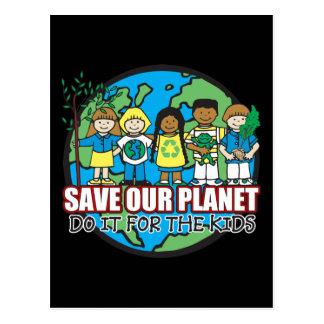 Sauvez notre planète carte postale