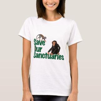 Sauvez notre T-shirt de dames de sanctuaires
