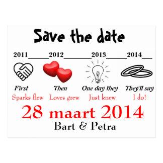 Save the date carte postale