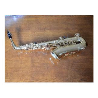 Saxofoon Briefkaart
