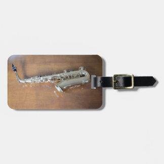 Saxophone Étiquette Pour Bagages