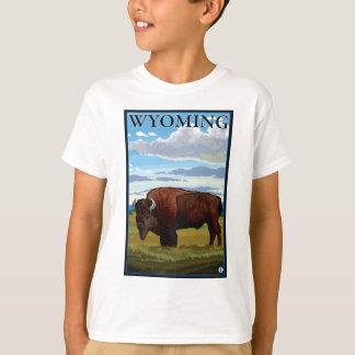 Scène de bison - Wyoming T-shirt