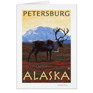 Scène de caribou - Pétersbourg, Alaska Carte