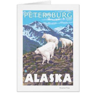 Scène de chèvres de montagne - Pétersbourg, Alaska Carte