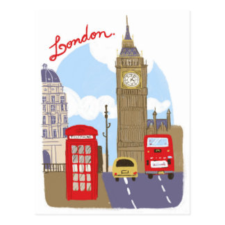 Scène de Londres Cartes Postales