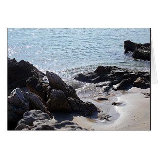 Scène de plage - suivez vos rêves carte de correspondance