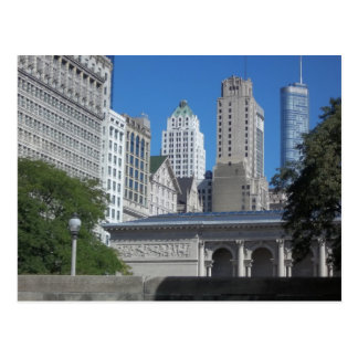 Scène de ville de Chicago Carte Postale