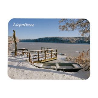 Scène d'hiver de Liepnitzsee Magnet Flexible
