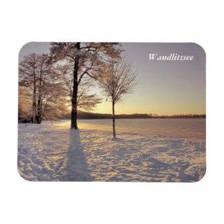 Scène d'hiver de Wandlitzsee Magnet Flexible