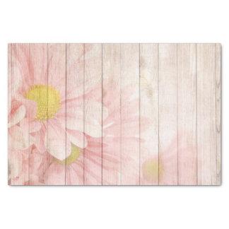 Scène florale rustique magnifique papier mousseline