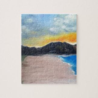 Scène peinte de plage puzzle