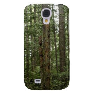 Scène verte de nature de forêt d'arbre de totem coque galaxy s4
