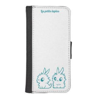 Schaal met portefeuille de kleine konijnen iPhone 5 portemonnee hoesje