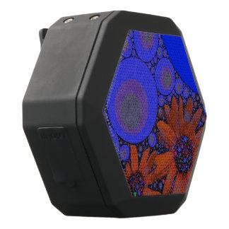 Schitterende Heldere Blauwe Oranje Zonnebloemen Zwarte Bluetooth Speaker