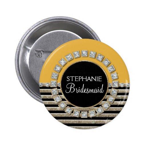Schittert de Moderne Horizontale Streep van het ar Speld Buttons