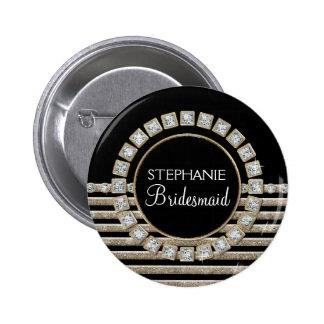 Schittert de Moderne Horizontale Streep van het ar Ronde Button 5,7 Cm
