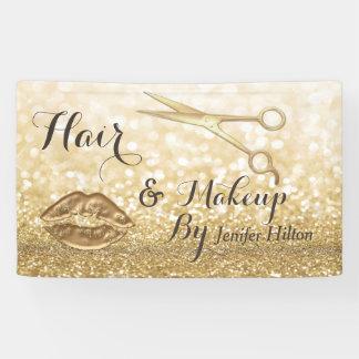 Schittert het elegante Goud van Glam faux Spandoek