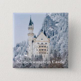 Schloss Neuschwanstein Badge Carré 5 Cm