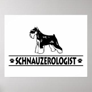 Schnauzer miniature humoristique poster