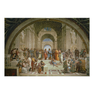 School van Athene, van della van de Stanza Print