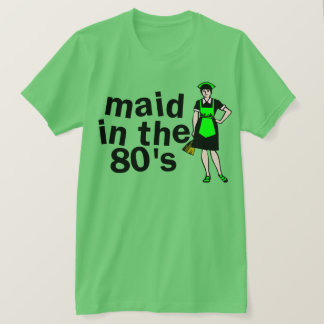 Schoonmakend Meisje in de jaren '80 T Shirt