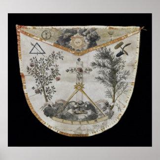 Schort van een Meester van de Orde van roze-Croix Poster