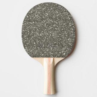 Scintillement argenté élégant raquette tennis de table