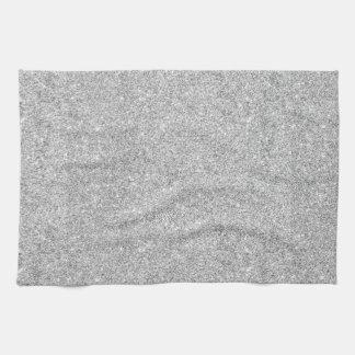 Scintillement argenté élégant serviettes éponge