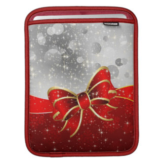 Scintillement argenté et arc rouge d'étincelles de poches pour iPad
