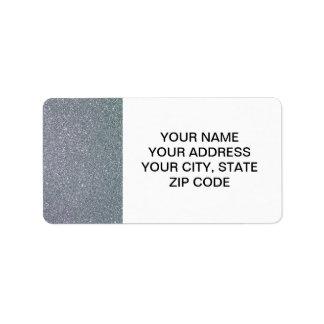 Scintillement argenté imprimé étiquette d'adresse