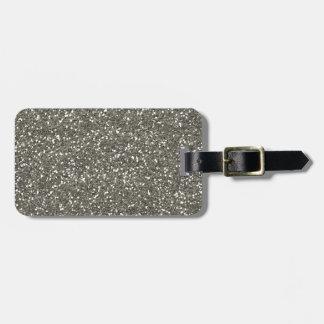 Scintillement argenté scintillant élégant étiquette à bagage
