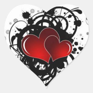 Scintillement d'affiches de coeur moderne sticker cœur