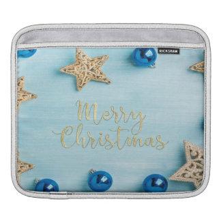 Scintillement de fête de Joyeux Noël de babioles Housse Pour iPad