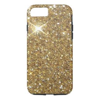 Scintillement de luxe d'or - image imprimée coque iPhone 8/7