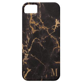 Scintillement décoré d'un monogramme d'or iPhone 5 case