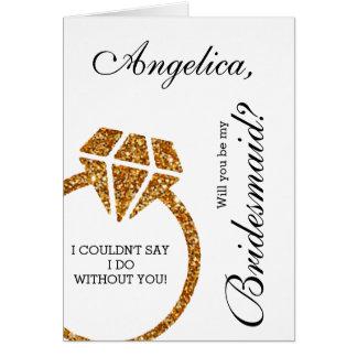 Scintillement d'or vous serez mon invitation de carte de vœux