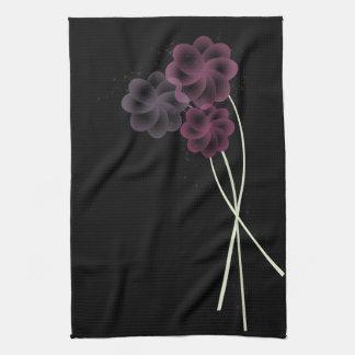 Scintillement doux de fleurs linges de cuisine