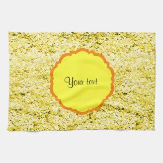 Scintillement jaune scintillant serviette éponge