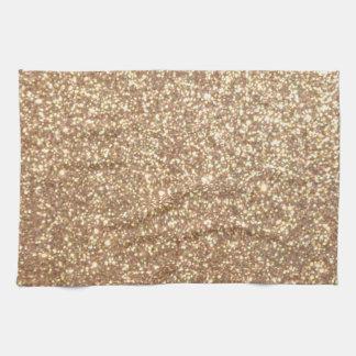 Scintillement métallique d'or rose d'en cuivre serviette éponge