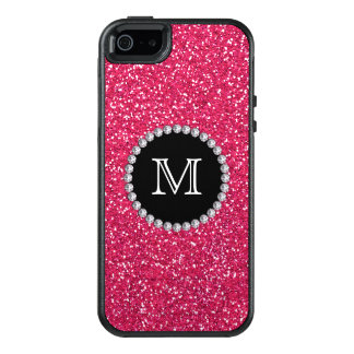 Scintillement rose, diamant, Girly, décoré d'un Coque OtterBox iPhone 5, 5s Et SE