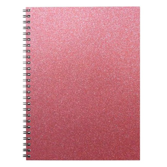 Scintillement rose d'or carnet