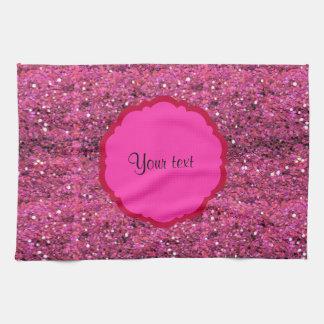 Scintillement rose scintillant serviettes pour les mains