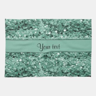 Scintillement turquoise scintillant serviettes pour les mains
