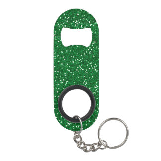 Scintillement vert élégant porte-clé décapsuleur