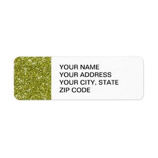 Scintillement vert imprimé étiquette d'adresse retour