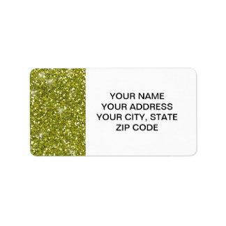 Scintillement vert imprimé étiquettes d'adresse