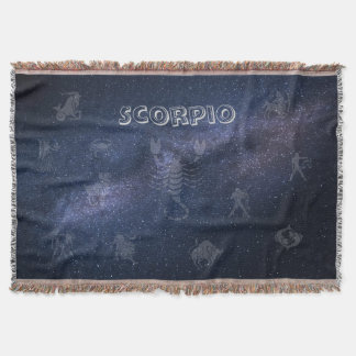 Scorpion de signe de zodiaque couvre pied de lit