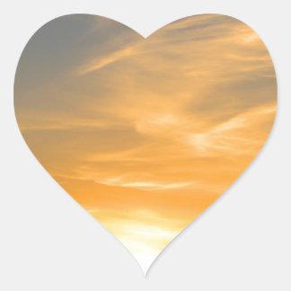 Scottsbluff Nébraska cultivant le coucher du Sticker Cœur
