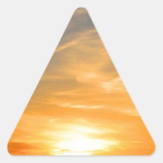 Scottsbluff Nébraska cultivant le coucher du Sticker Triangulaire
