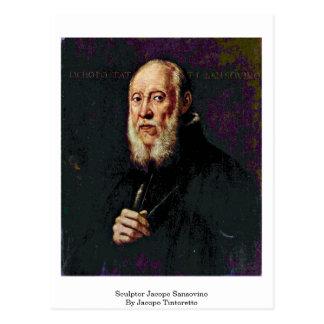 Sculpteur Jacopo Sansovino par Jacopo Tintoretto Carte Postale